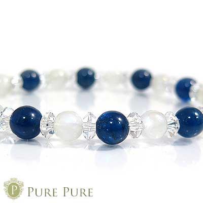 ブルーアパタイト ブレスレット 天然石 パワース...