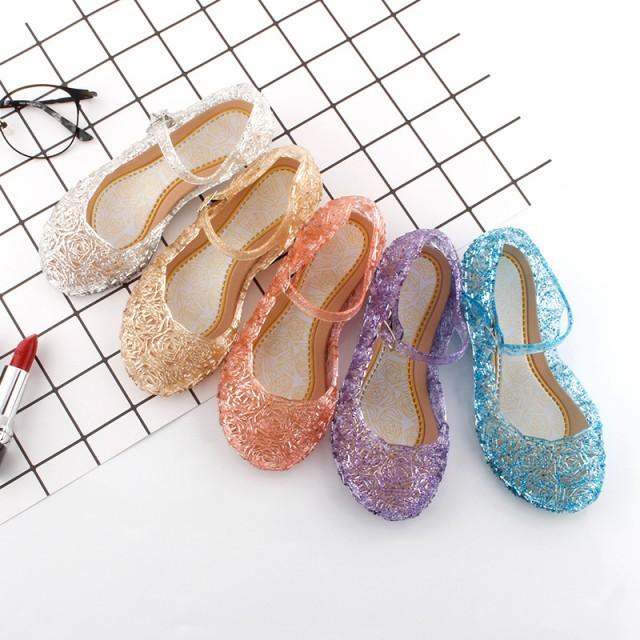 キッズ サンダル 女の子 プリンセス ガラスの靴 ...