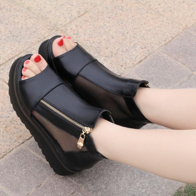 歩きやすいウェッジサンダル 靴 レディース 大き...
