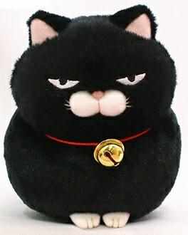 ひげまんじゅう ST 黒豆 約13cm  (ネコ、ね...