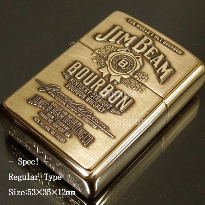 【ZIPPO】ジッポ/ジッポー Jim Beam Brass Emblem...