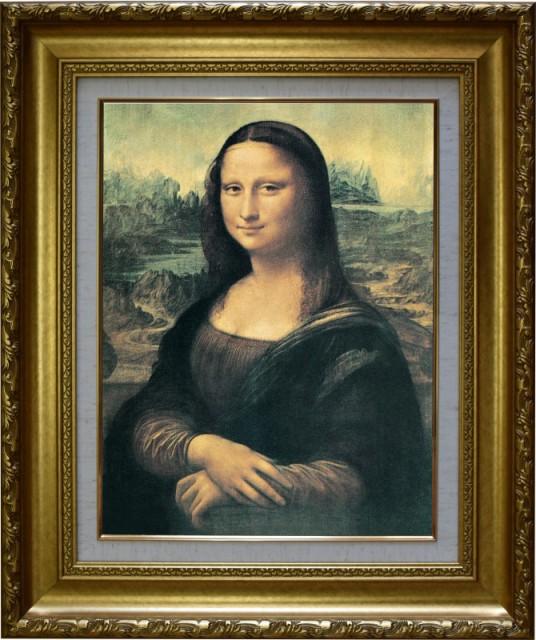 油彩画の筆つきや立体感をリアルに再現 金色額縁...