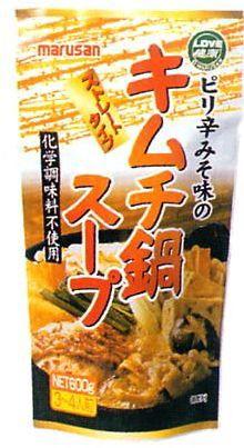 マルサン ピリ辛みそ味のキムチ鍋スープ 600g (冬...