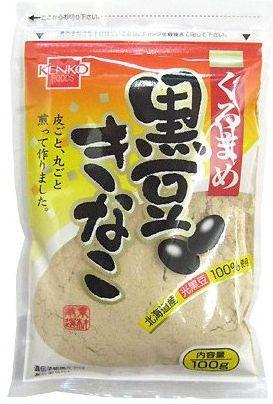 健康フーズ 黒豆きな粉 100g 北海道産光黒豆使用...