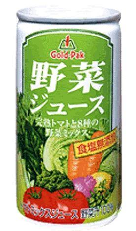 ゴールドパック 野菜ジュース無塩 190g×30缶
