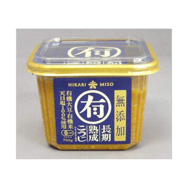 ひかり味噌 マル有 有機味噌750g