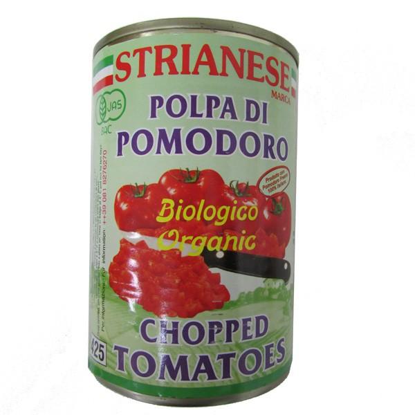 ストリアネーゼ 有機トマト缶 カット 400g