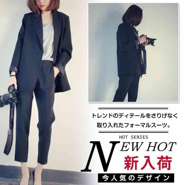 パンツスーツ スーツ ストライプ セットアップ 2...