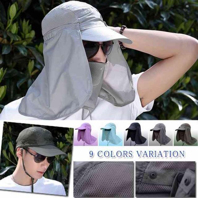 UVカット帽子 紫外線対策用ハット 帽子 メンズ レ...