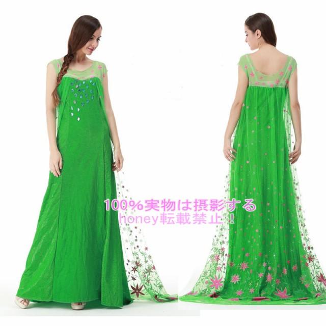 エルサのサプライズ衣装/アナと雪の女王ドレス/ハ...