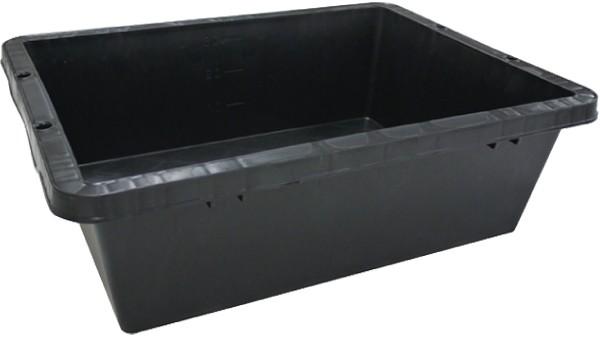 【国産】プラ箱 40型(黒)プラスチック製 4...