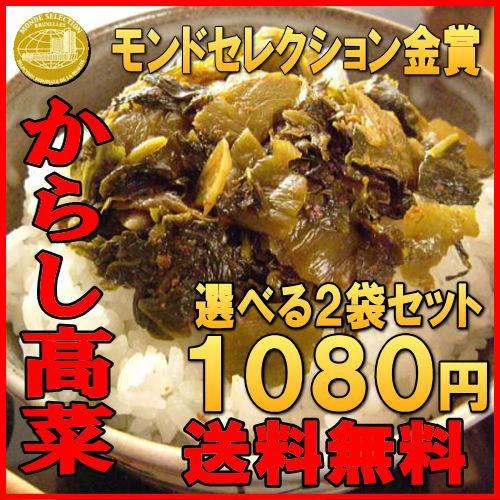 からし高菜(辛子高菜)250gx2袋  送料無料  お試...