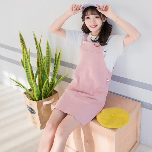 【2018春夏新作】オーバーオールスカート