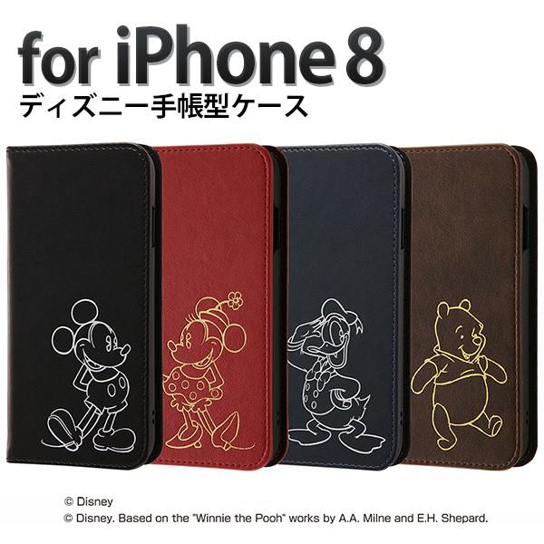 iphone8 iphone7 手帳型ケース ディズニー ミッキ...