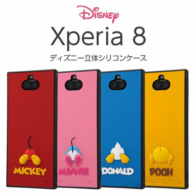 Xperia8 ケース スクエア ディズニー キャラクタ...
