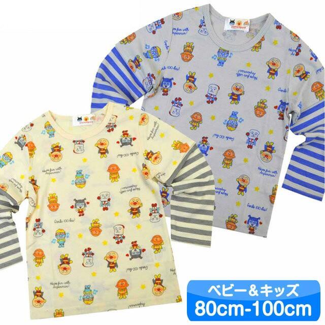 アンパンマン Tシャツ 長袖 フェイクレイヤード 8...