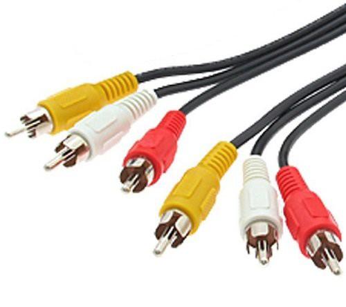 ビデオケーブル 1.2m 3ピン-3ピン(赤白黄) AVケー...