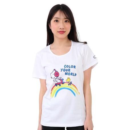 スヌーピー 天竺 Tシャツ 半袖 ホワイト M レディ...