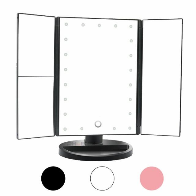 5896 hb ~ 鏡 LED ライト 卓上ミラー 拡大鏡付き ...