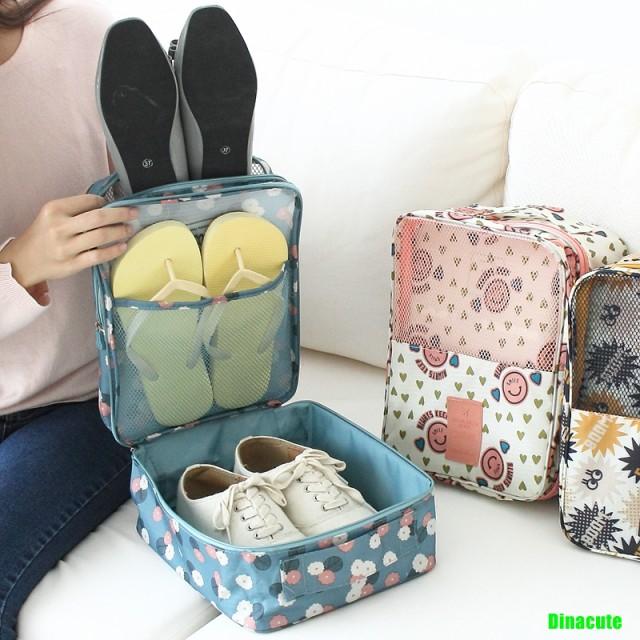 送料無料 旅行用トラベルシューズポーチ 靴収納...