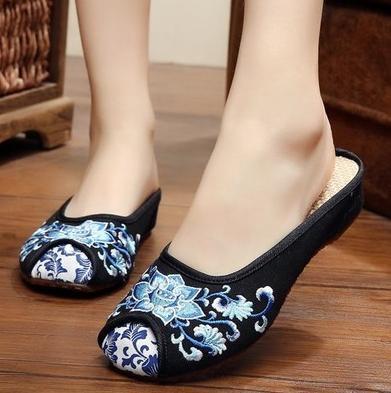 レディース パンプス靴/刺繍靴 ブーツ 綿麻靴/...