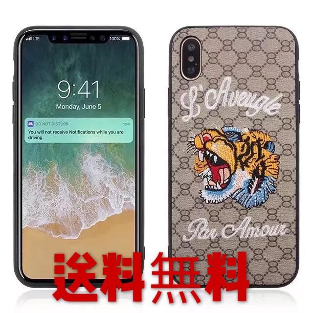 iphone8iphone8plusケースハート刺繍可愛いiPhone...