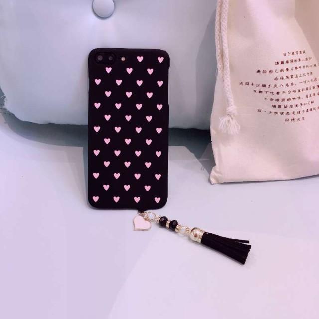 iPhone8 ケース iPhone7ケースピンク フリンジ ...