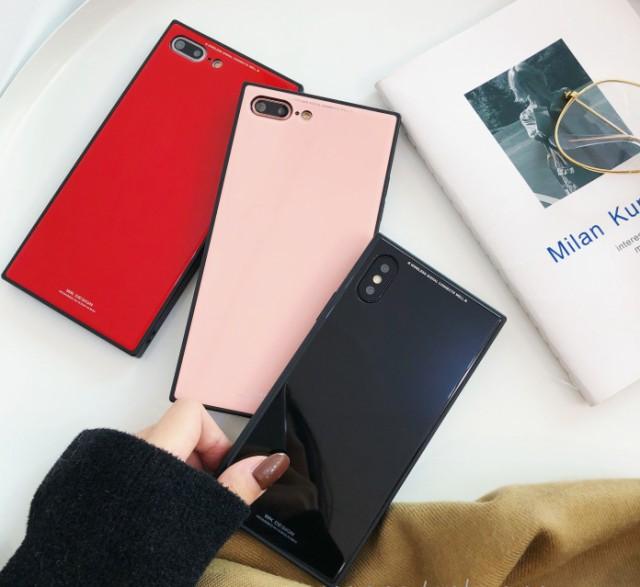 iPhone X iPhone 8 iPhone 7ケース 背面ガラス iP...