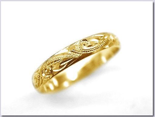 指輪 小さいサイズ 鍛造(たんぞう) 純金(K2...