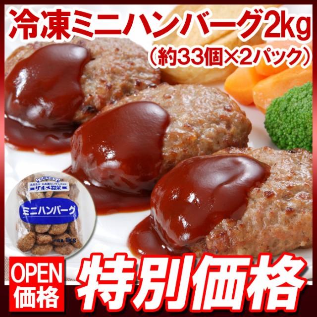 冷凍ミニハンバーグ2kg(約66個)