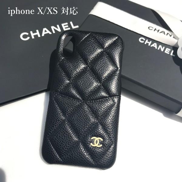 【新品■正規品■送料無料■ギフト包装無料】CHANEL シャネル  iphoneX XSケース  グレインドラムスキン(キャビアスキン)  レディース
