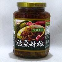 TOEI 酸菜辣椒 365g/瓶(唐辛子入り高菜漬け具...