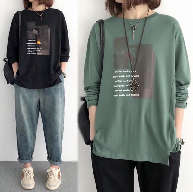 送料無料 tシャツ レディース 長袖tシャツ ロンT ...