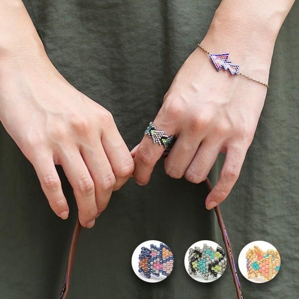 レディース リング 指輪 ビーズ アクセサリー プ...