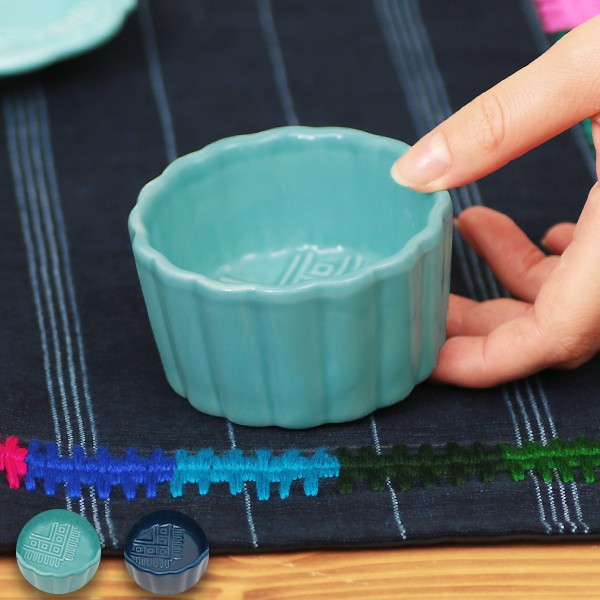 ココット 皿 かわいい ソース皿 カップ 食器 藍 ...