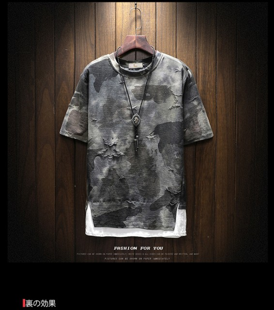 新品★Tシャツ メンズ トップス 迷彩柄 半袖...