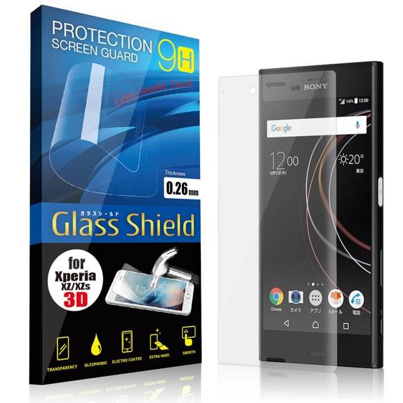 液晶保護フィルム Xperia XZ/XZs 3D 9H ガラスシ...