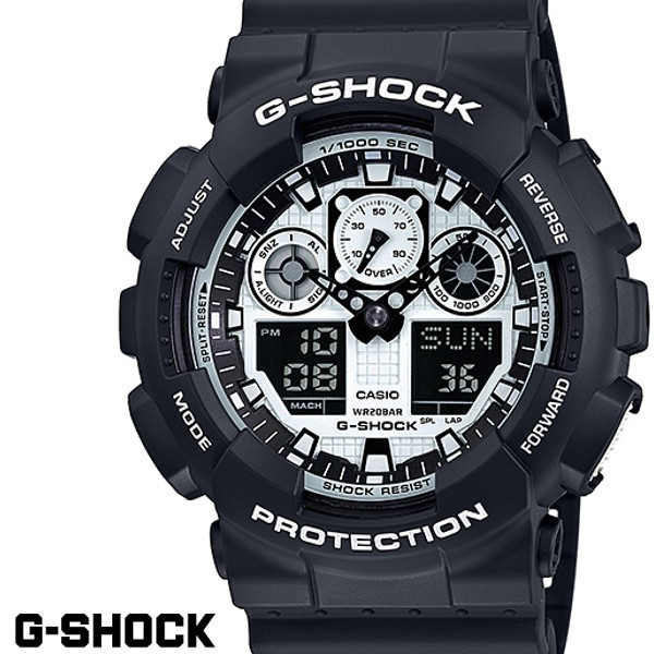 G-SHOCK CASIO 腕時計 メンズ GA-100BW-1A デジア...