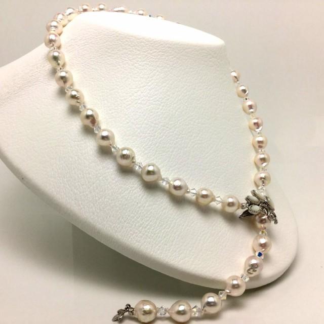 真珠 ネックレス パール アコヤ真珠 セミロング ...