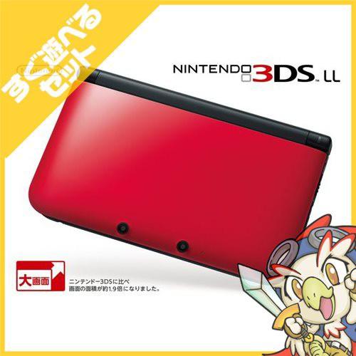 3DSLL ニンテンドー3DS LL レッドXブラック 本体 ...
