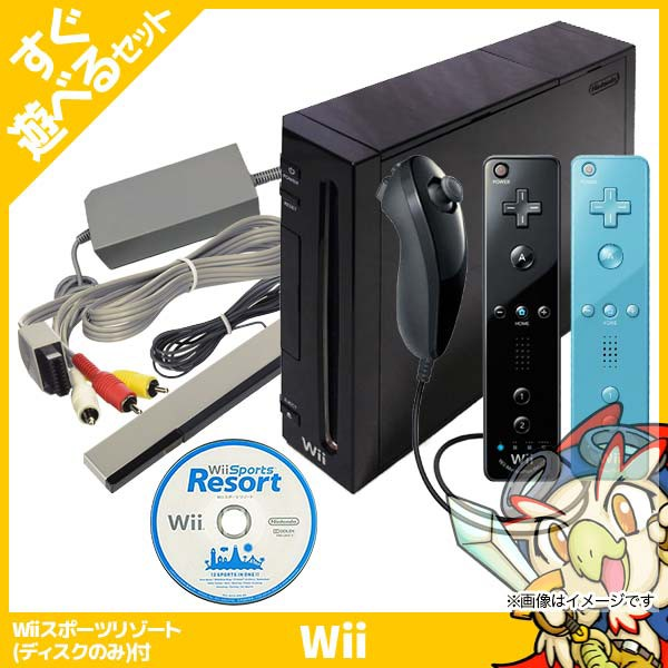 Wii ニンテンドーWii Wii本体 (クロ) Wiiリモコン...