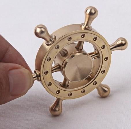 純銅製 高級感 高品質 ハンドスピナー長時間4分回...