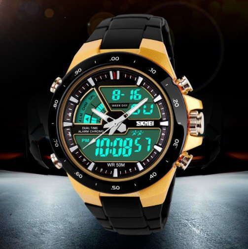 SKMEI ラグジュアリーデジタルメンズ腕時計