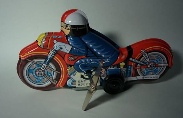 ブリキのオートバイ  ブリキおもちゃの老舗Burik...