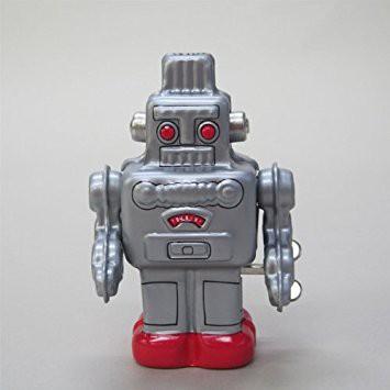 ブリキのミニロボット(シルバー) ブリキおもち...