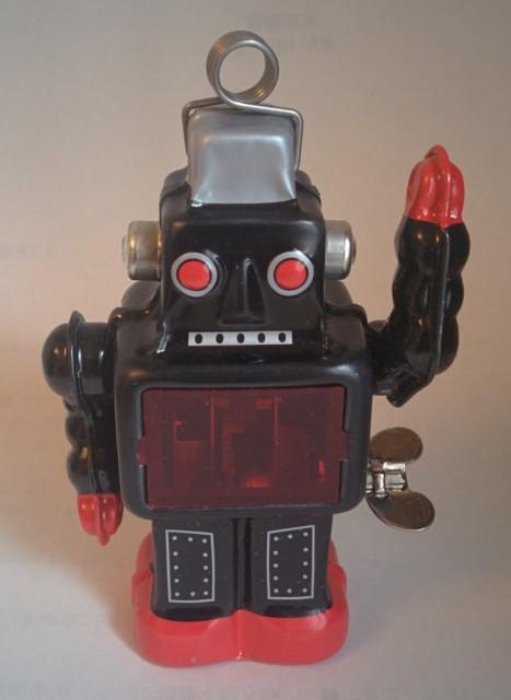 ブリキのスパーキング・ロボット(黒)
