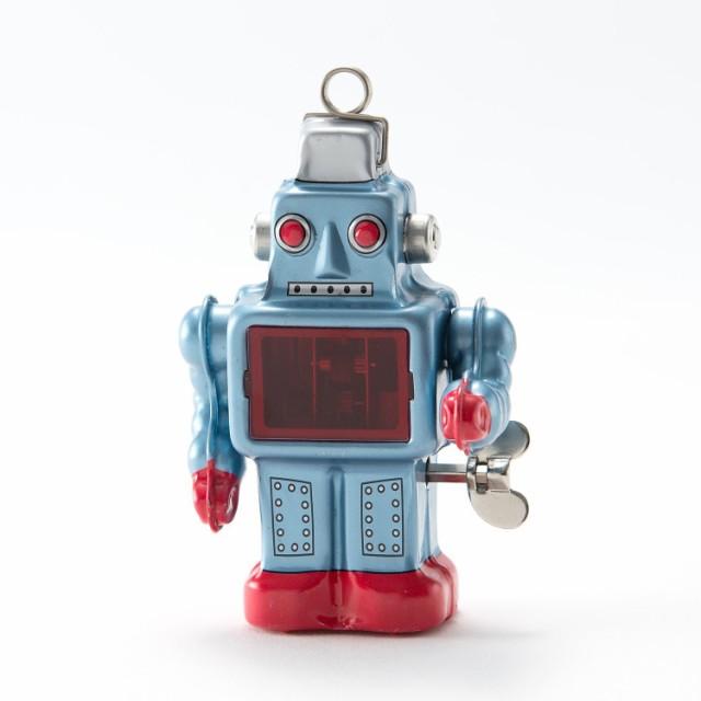ブリキのスパーキング・ロボット(青)