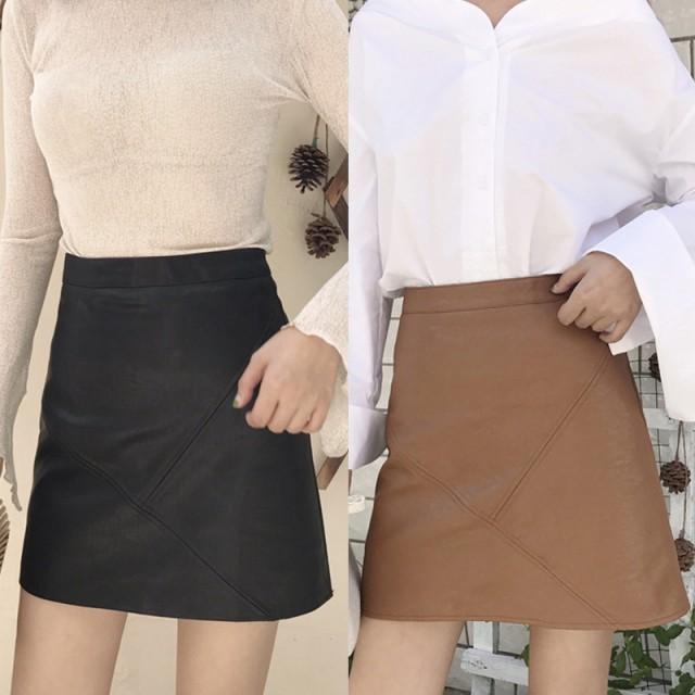 台形スカート ショート丈 ミニスカート《2colors...