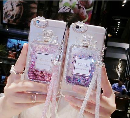 流れ星&ハート グリッター 香水瓶 iphone 6s/6plu...