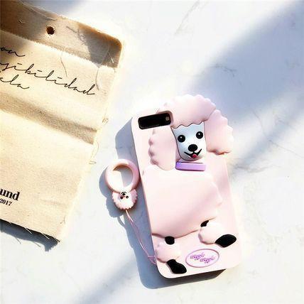 ピンクプードル iphone 6s/plus 7/plus シリコン...